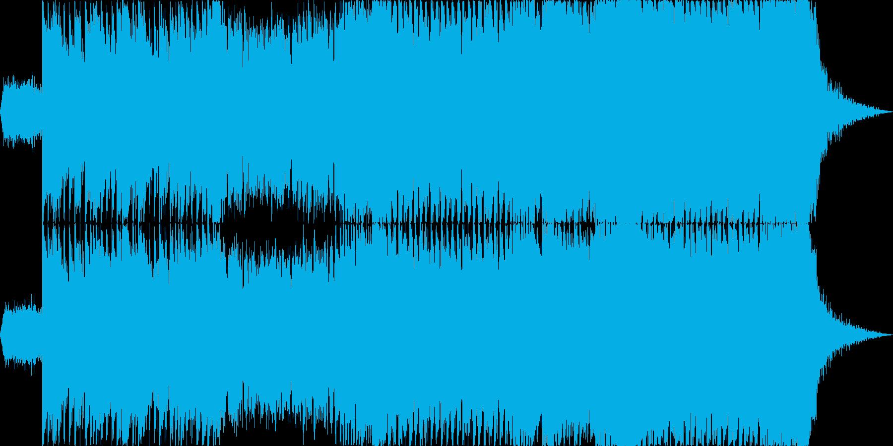 【1分版】ヘヴィーで攻撃的なエレキギターの再生済みの波形