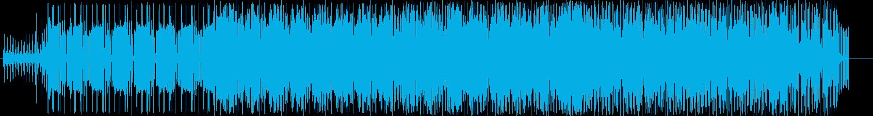 爽やかなリズムのノリノリの曲の再生済みの波形