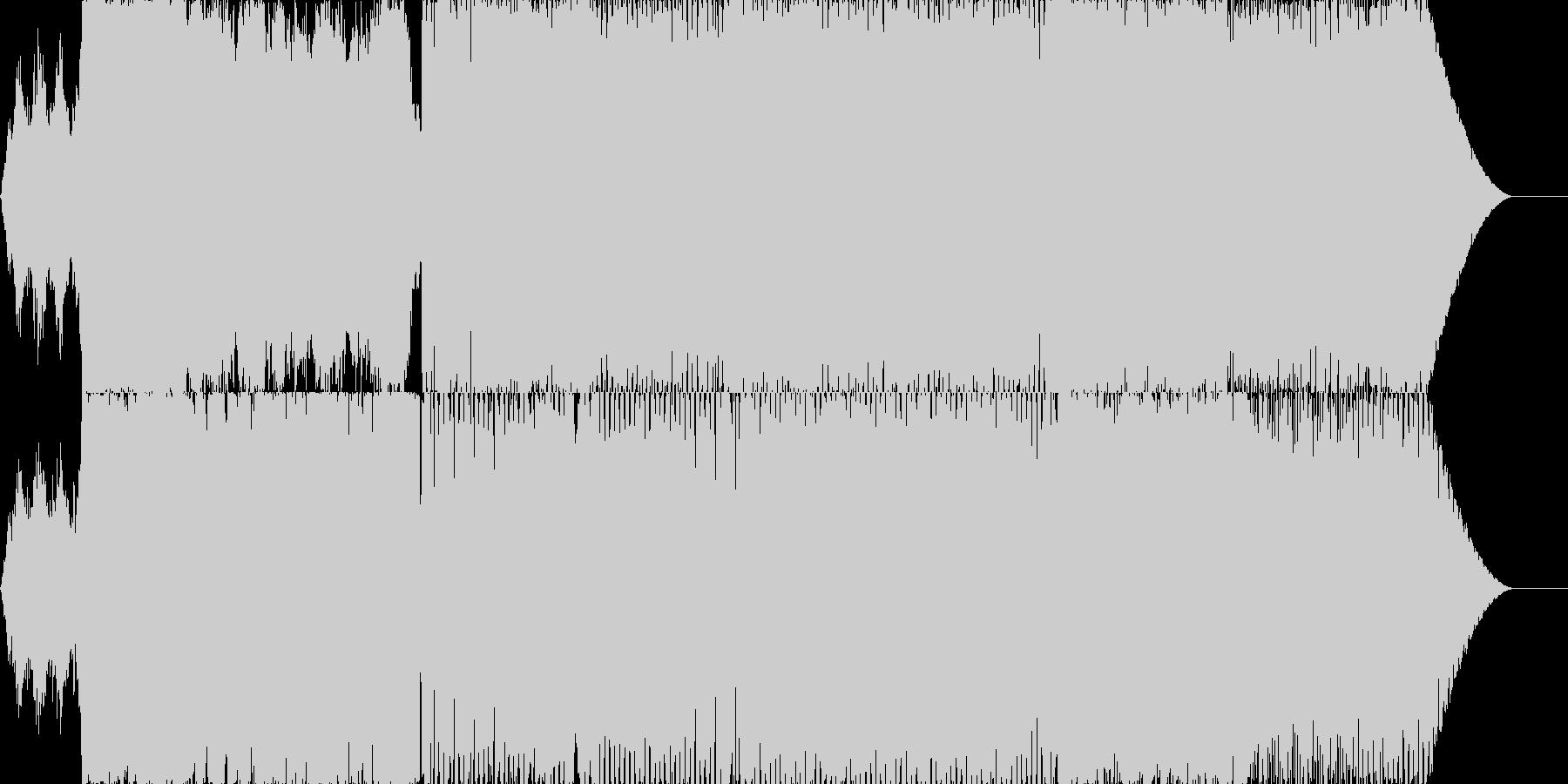 近未来なイメージのエレクトロサウンドの未再生の波形