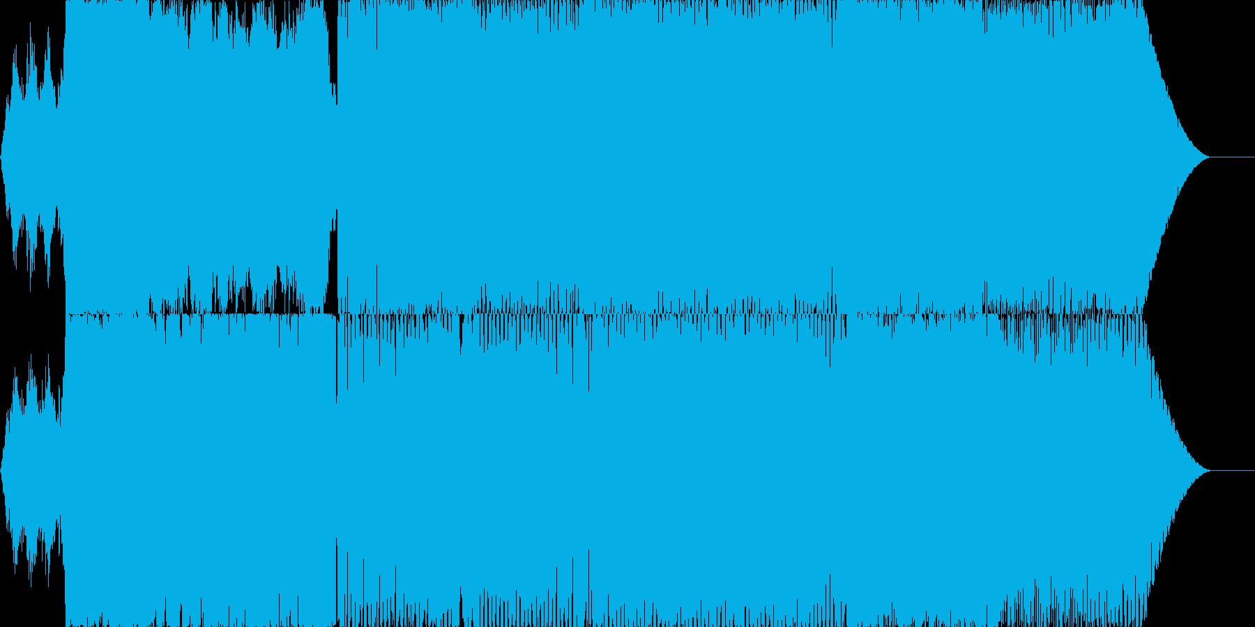 近未来なイメージのエレクトロサウンドの再生済みの波形