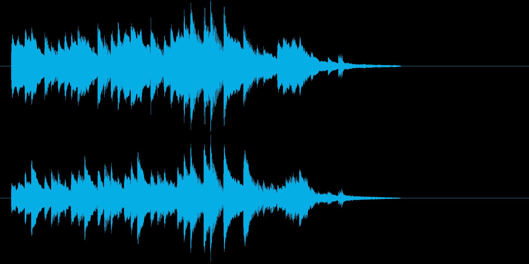 ピアノソロジングルの再生済みの波形