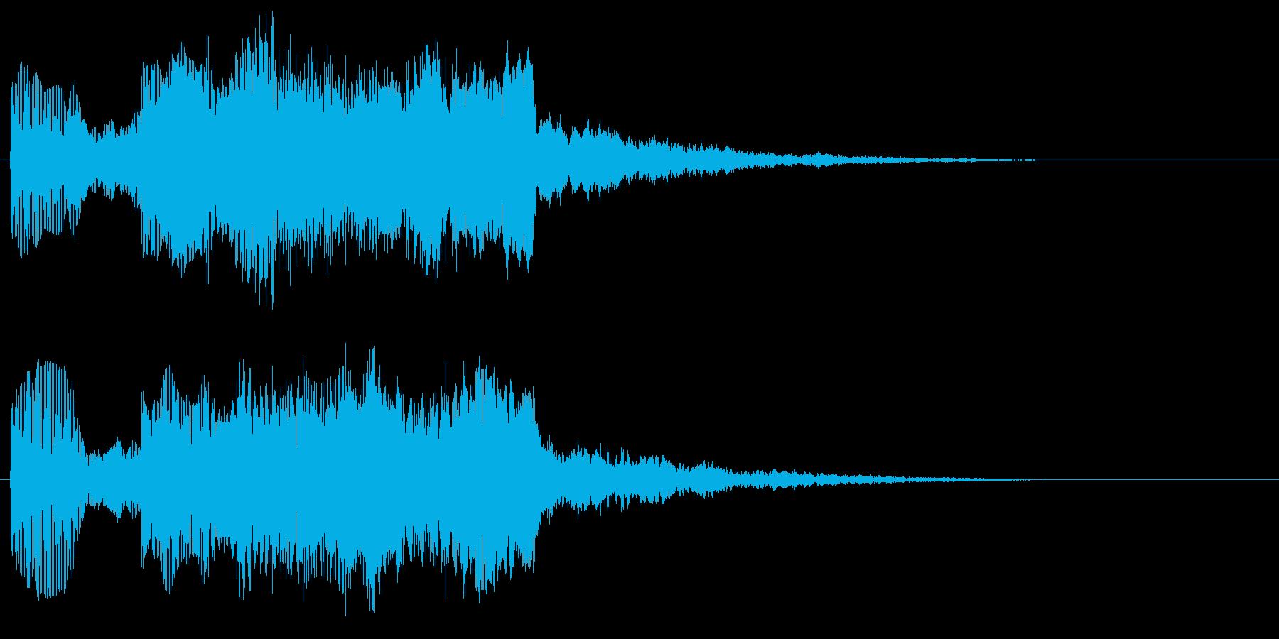 コミカル マヌケなゲームオーバーフレーズの再生済みの波形