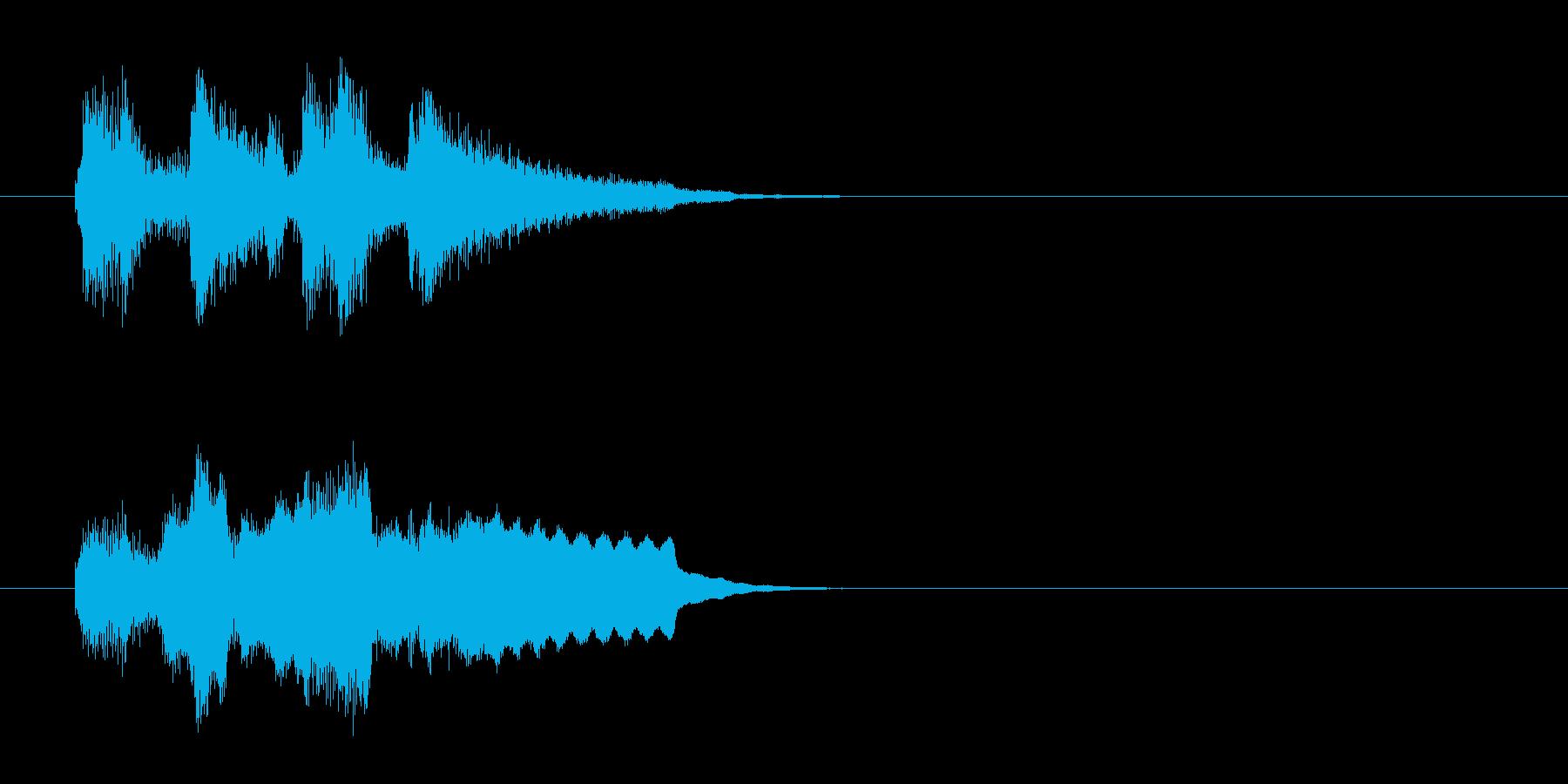コーナー・エンド風アコースティックの曲の再生済みの波形