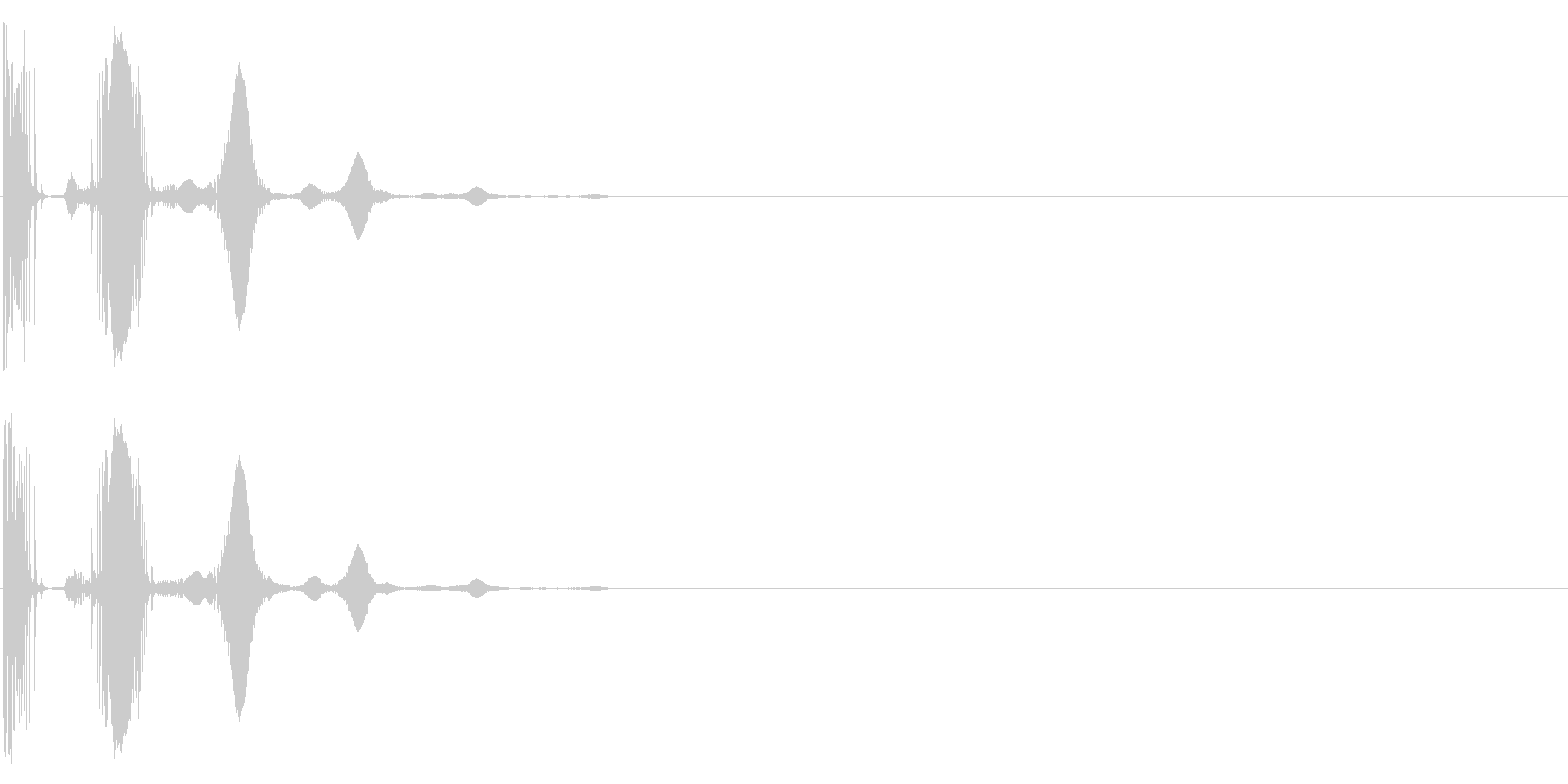 トホホ~ 残念 ガッカリ 失敗の未再生の波形