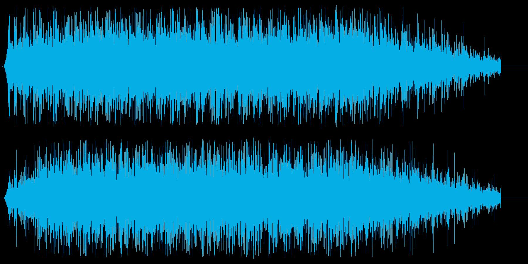 シンプルな拍手(大人数)の音ですの再生済みの波形