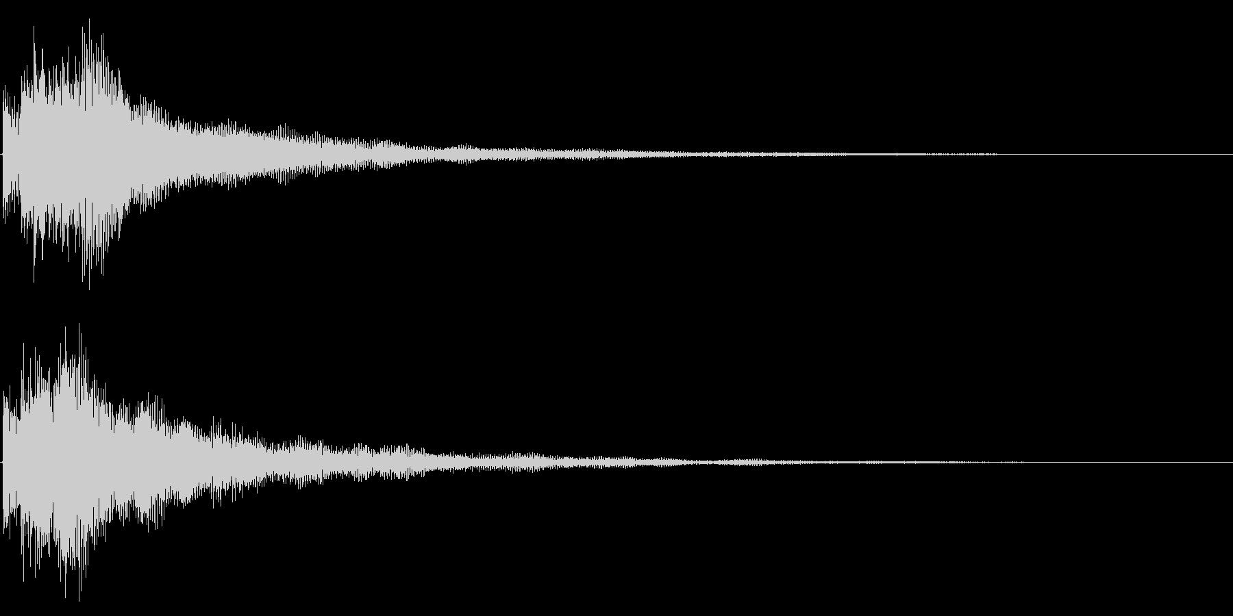 決定音/レベルアップ/シンセサイザーの未再生の波形