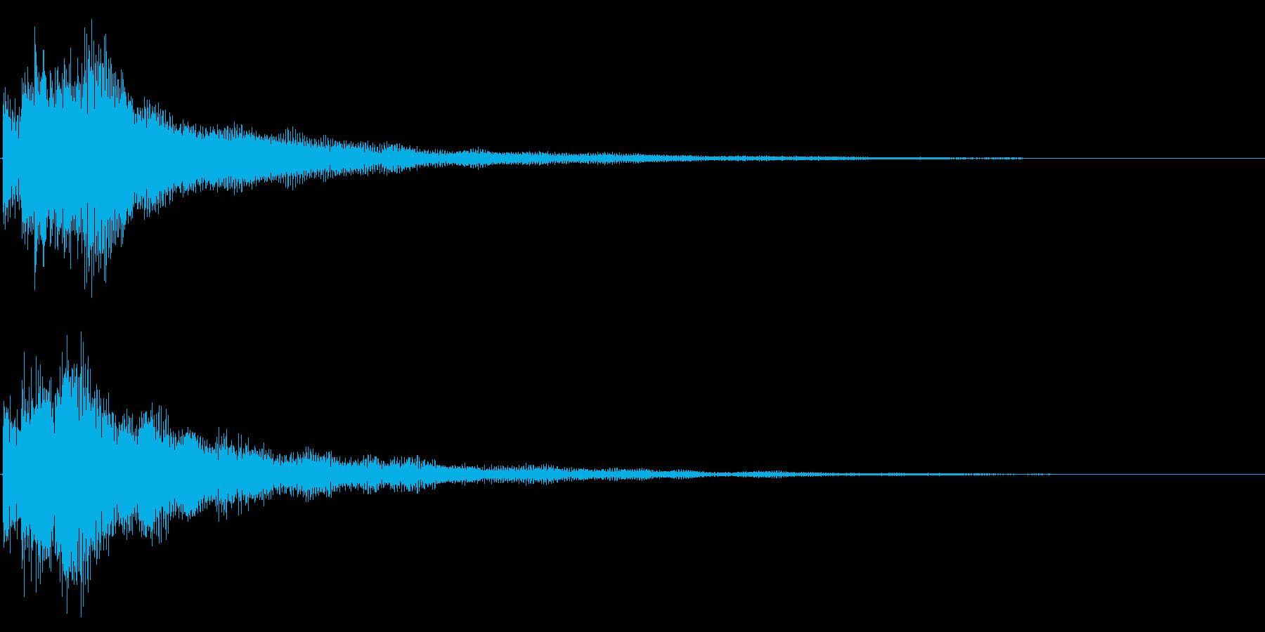 決定音/レベルアップ/シンセサイザーの再生済みの波形