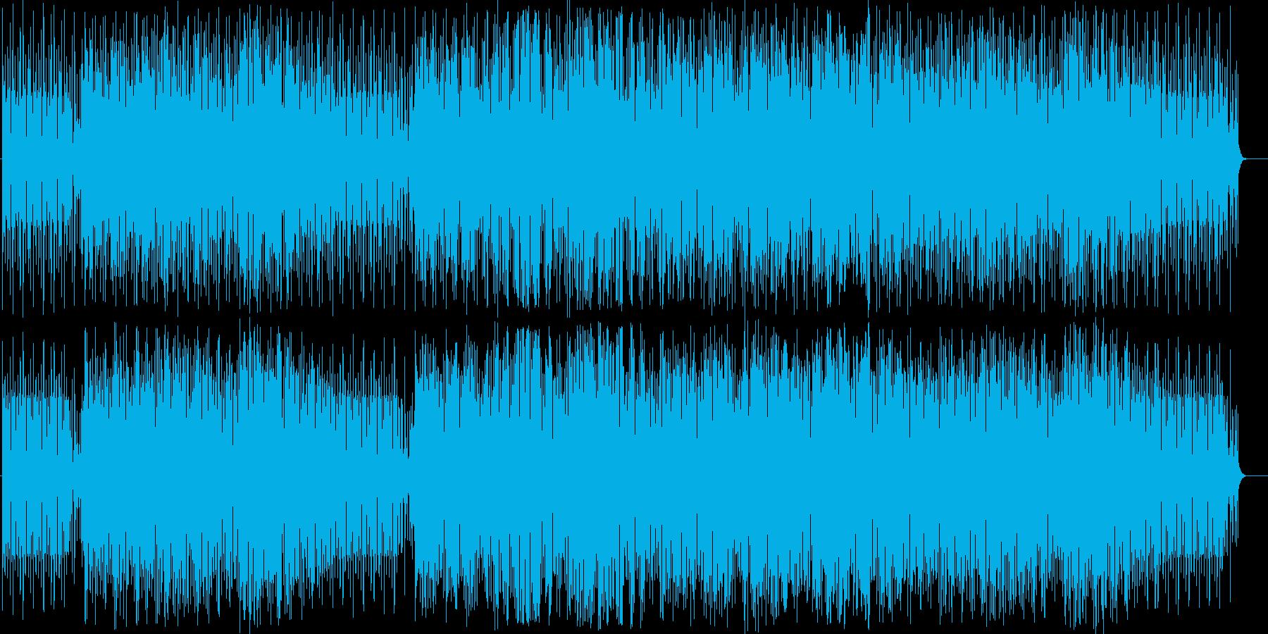かっこいい雰囲気のジャズの再生済みの波形