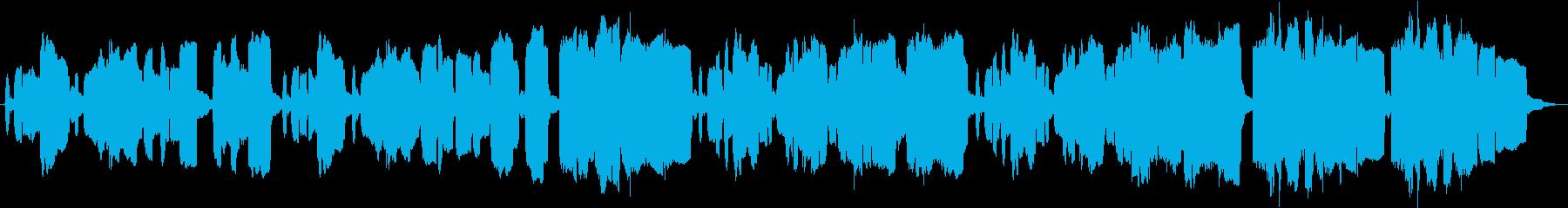リコーダーでもの悲しく表現した短い曲の再生済みの波形