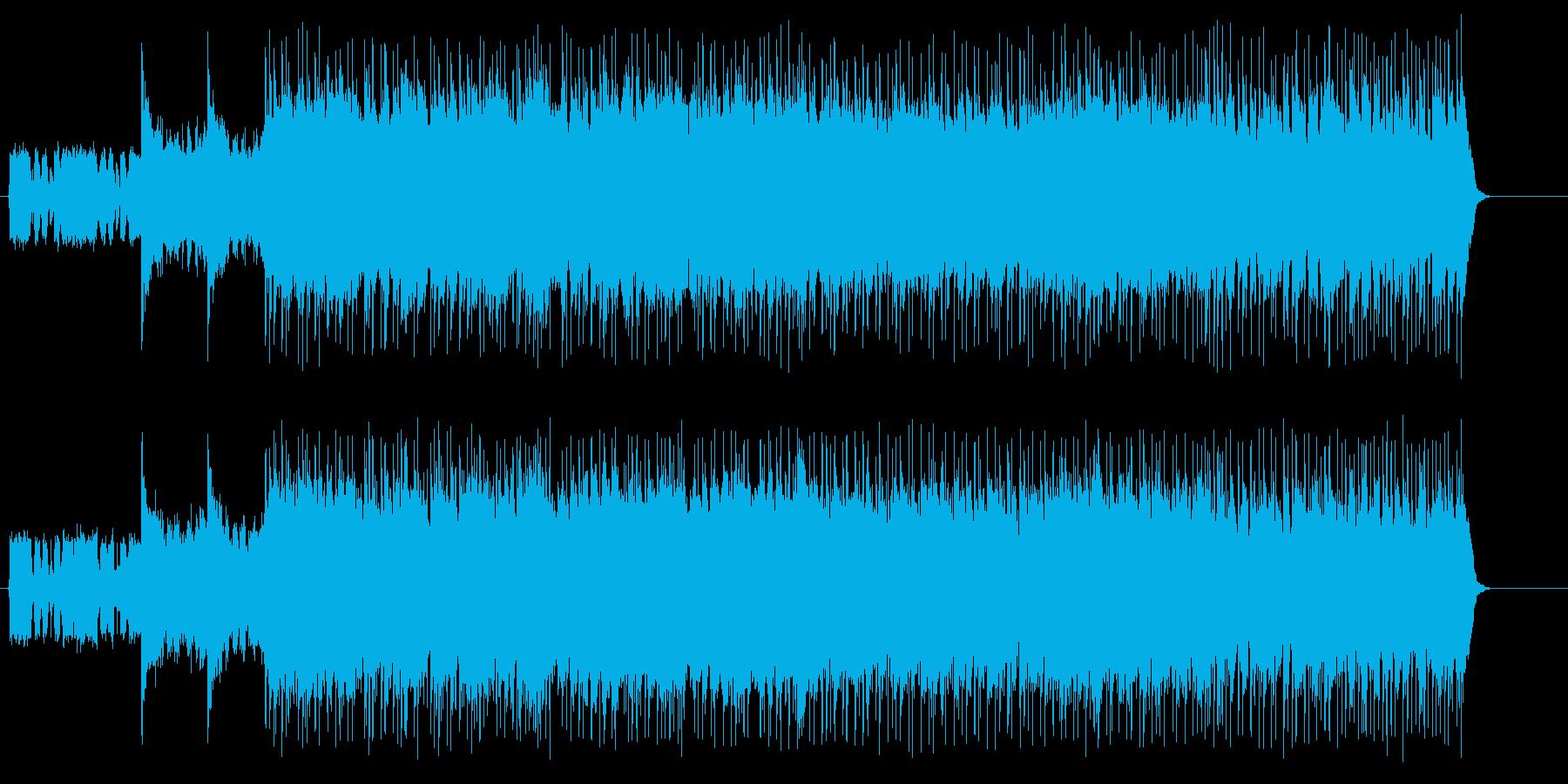 重たいアメリカンミディアムハードロックの再生済みの波形