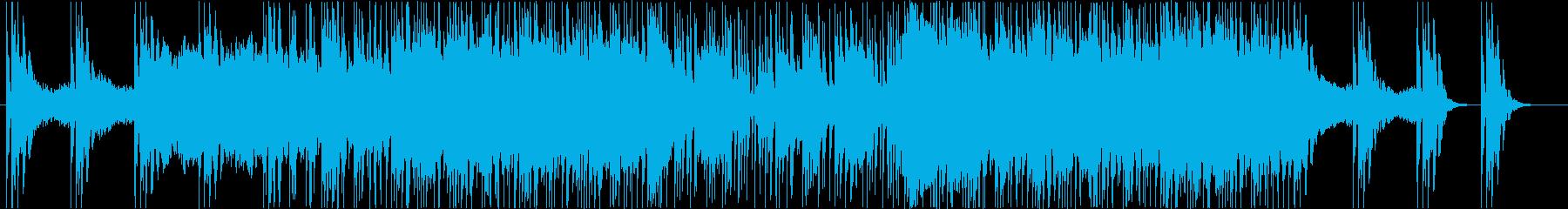 ピアノ+シンセのプログレッシブテクノの再生済みの波形