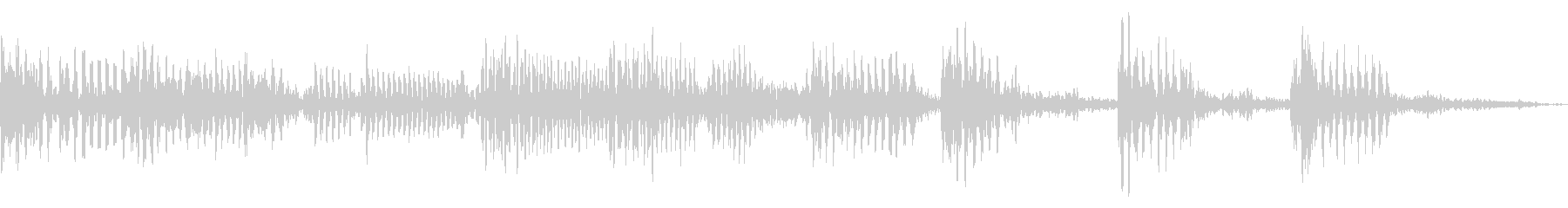 リズムとベースによるアイキャッチ用音源の未再生の波形