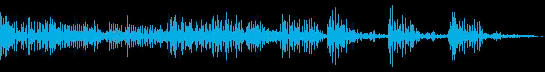 リズムとベースによるアイキャッチ用音源の再生済みの波形