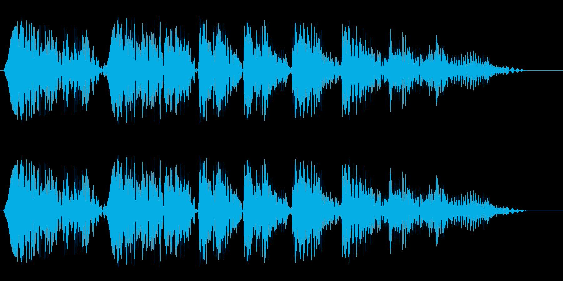ニョンニョンピヨヨヨーン(登場音)の再生済みの波形