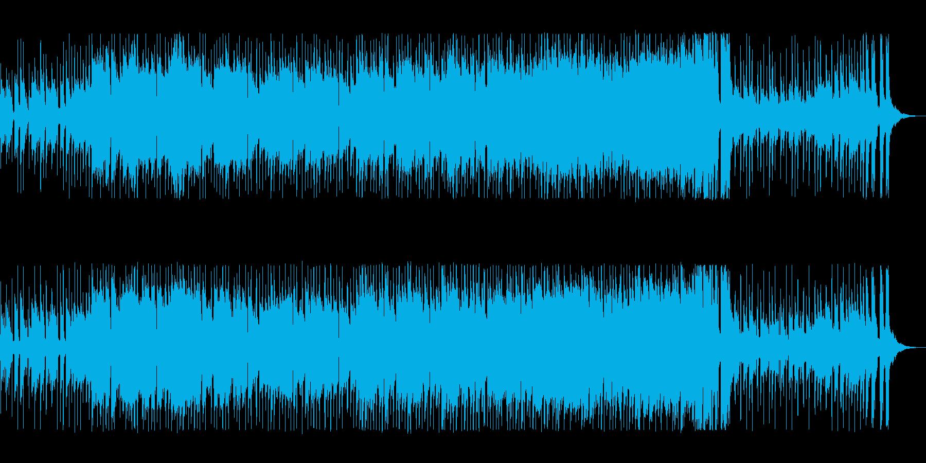 南国風の爽やかなピアノジャズの再生済みの波形