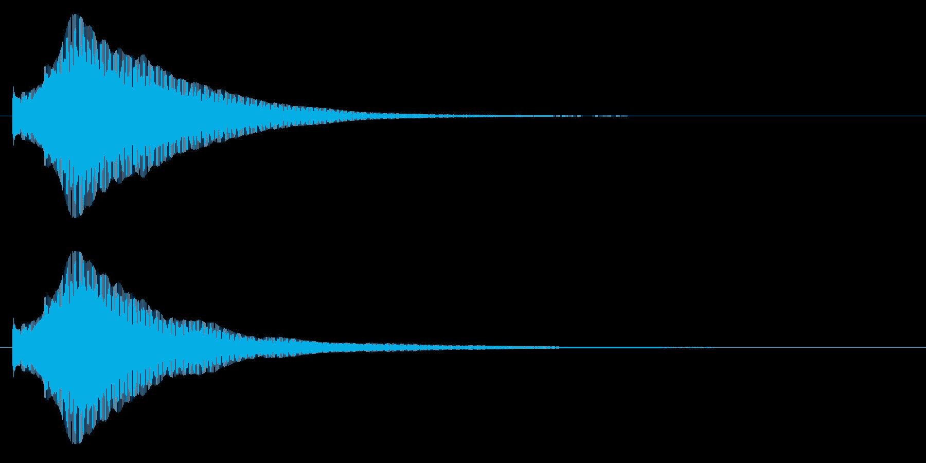 ティロン【決定音:おしゃれで綺麗】の再生済みの波形