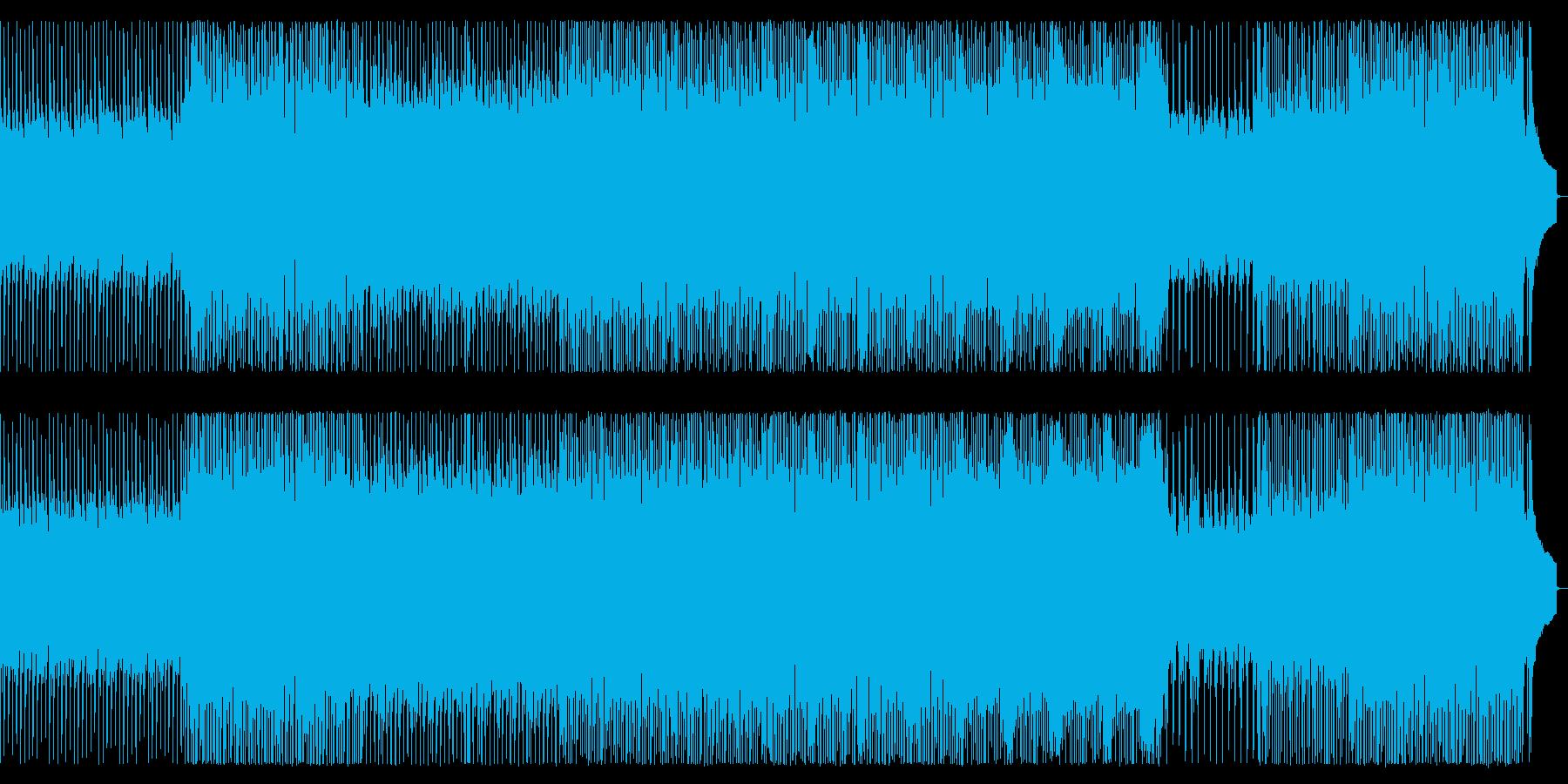 戦場をイメージしたピアノロックの再生済みの波形