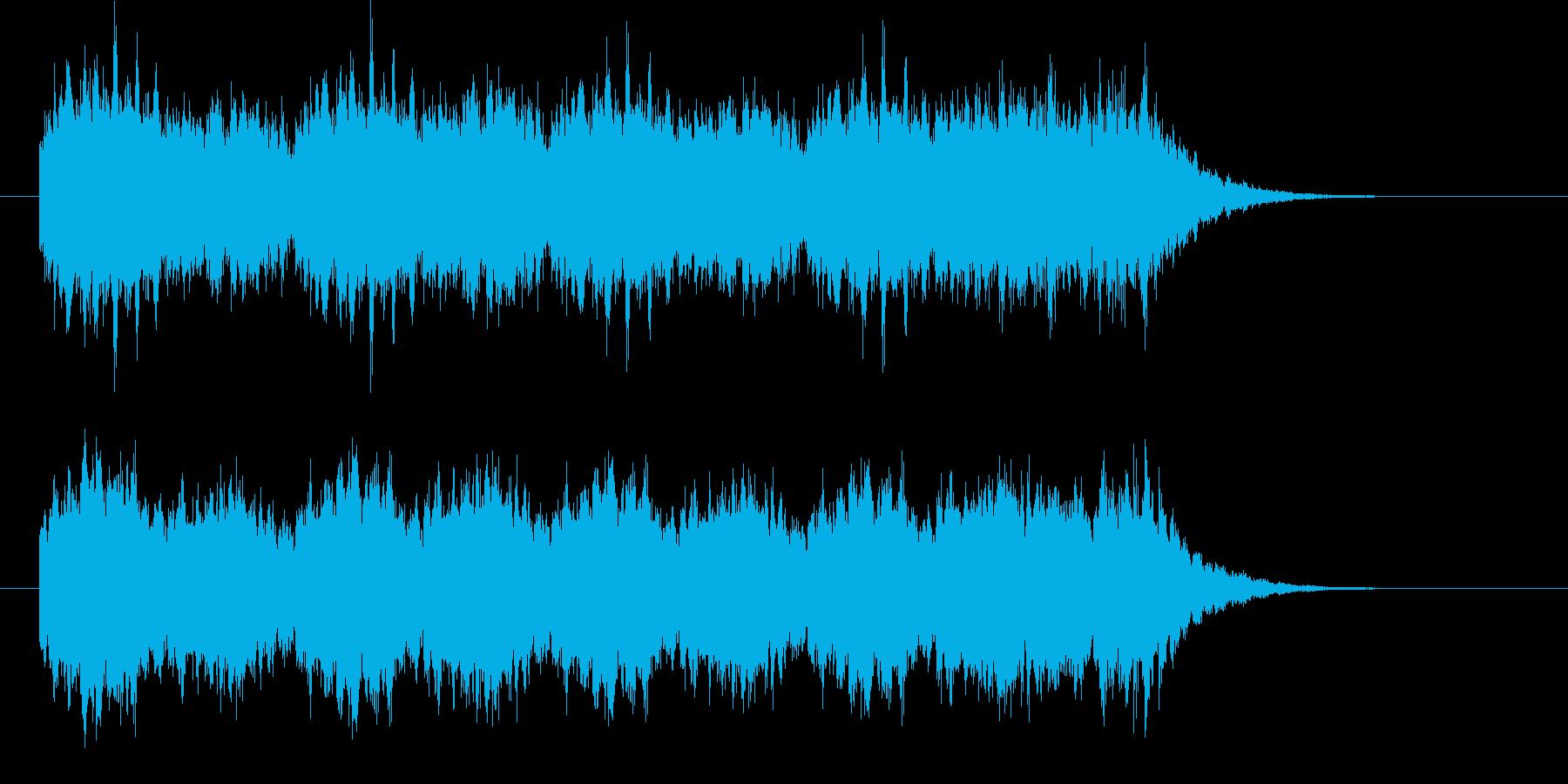 ファンタジーな雰囲気のベルの再生済みの波形