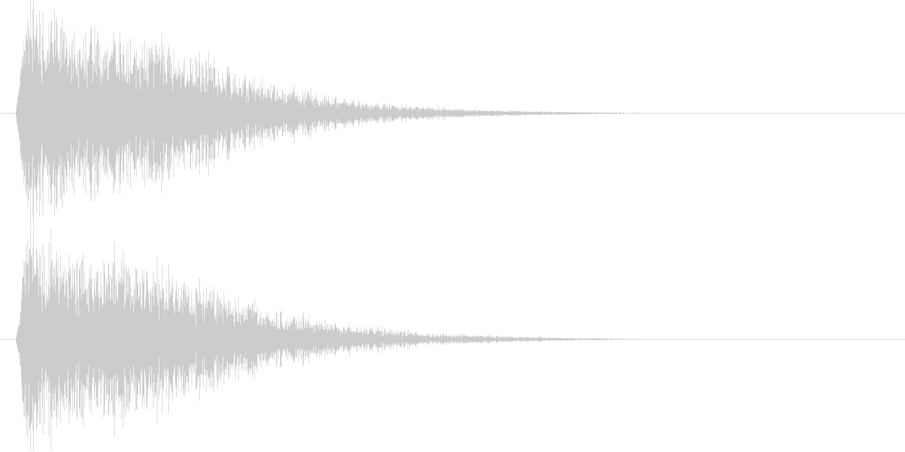 ガキーン(大地を切り裂く斬撃音)の未再生の波形