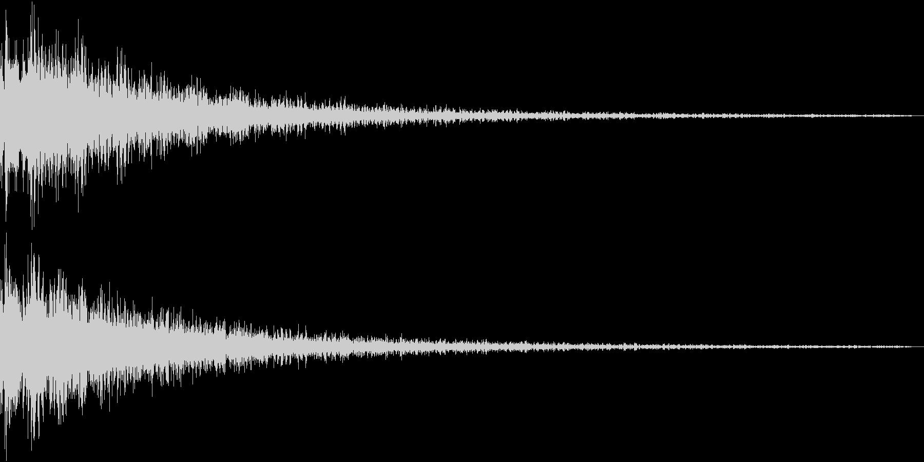 Gun 暴れた重低音SFX ちょいワルの未再生の波形