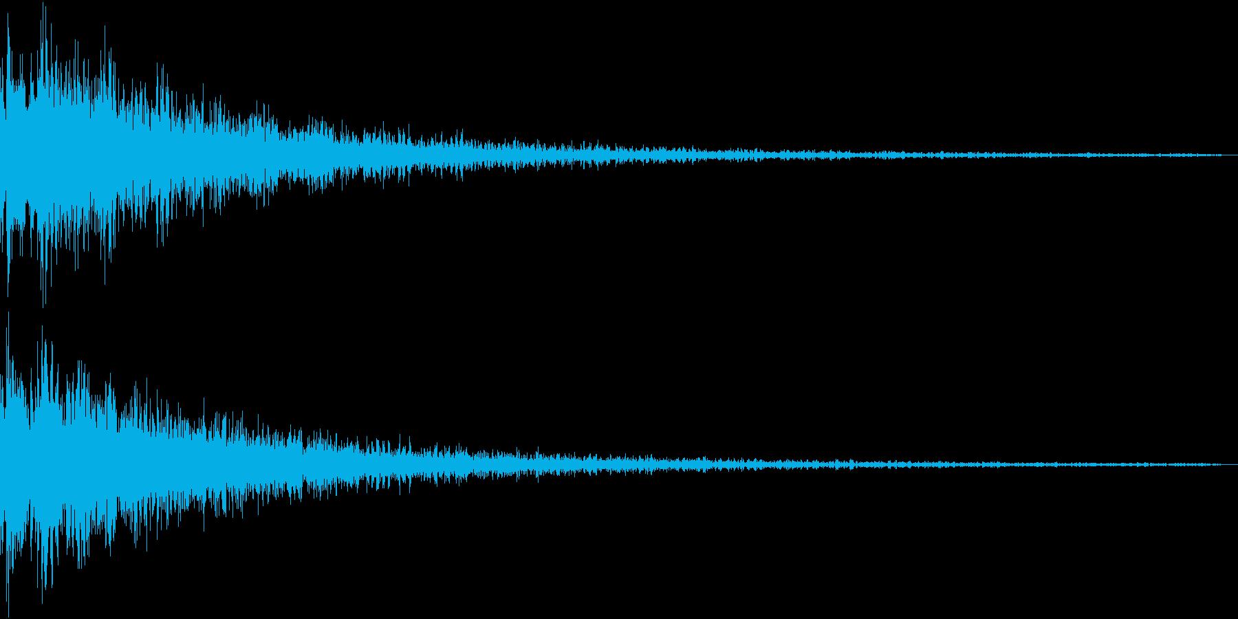 Gun 暴れた重低音SFX ちょいワルの再生済みの波形