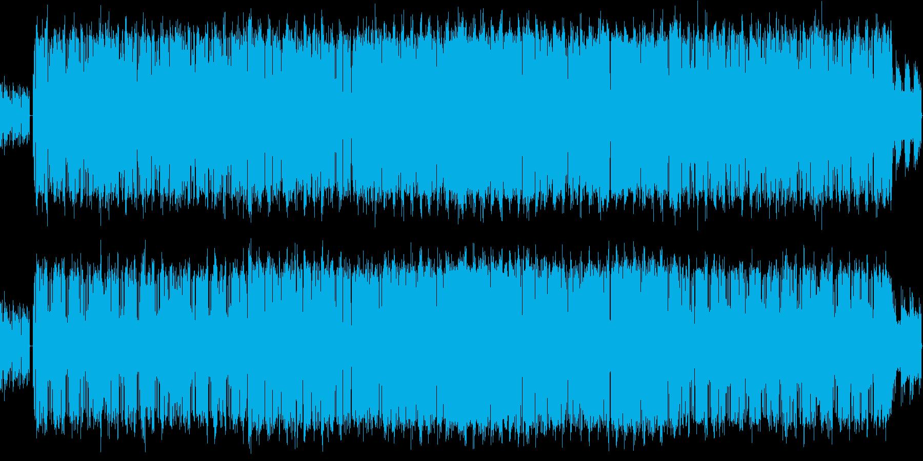 スピート感があるJAZZ FUNCKの再生済みの波形