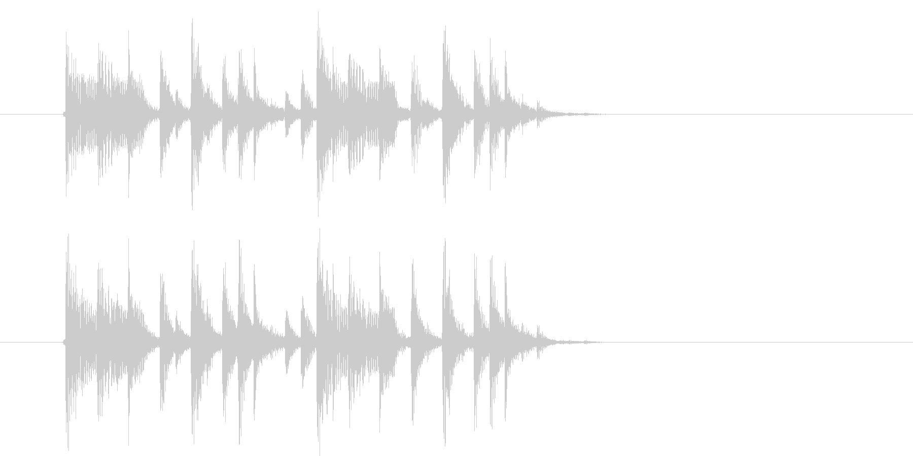 アップテンポなテクノミュージックの未再生の波形