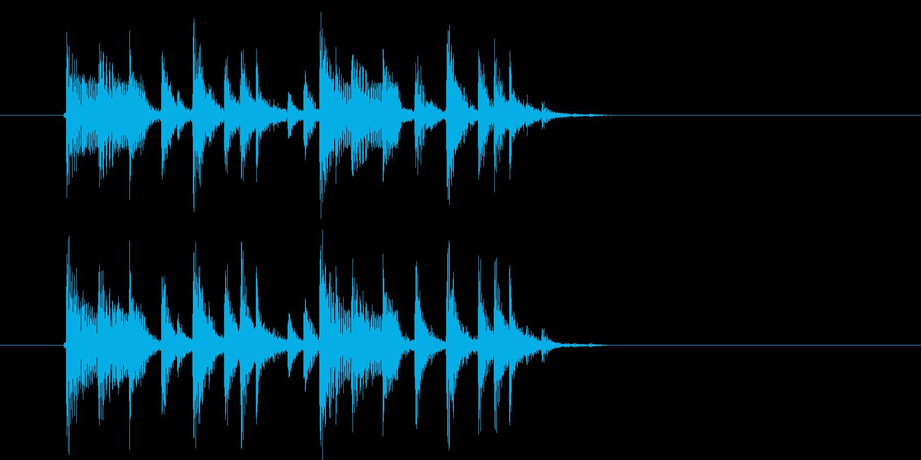 アップテンポなテクノミュージックの再生済みの波形