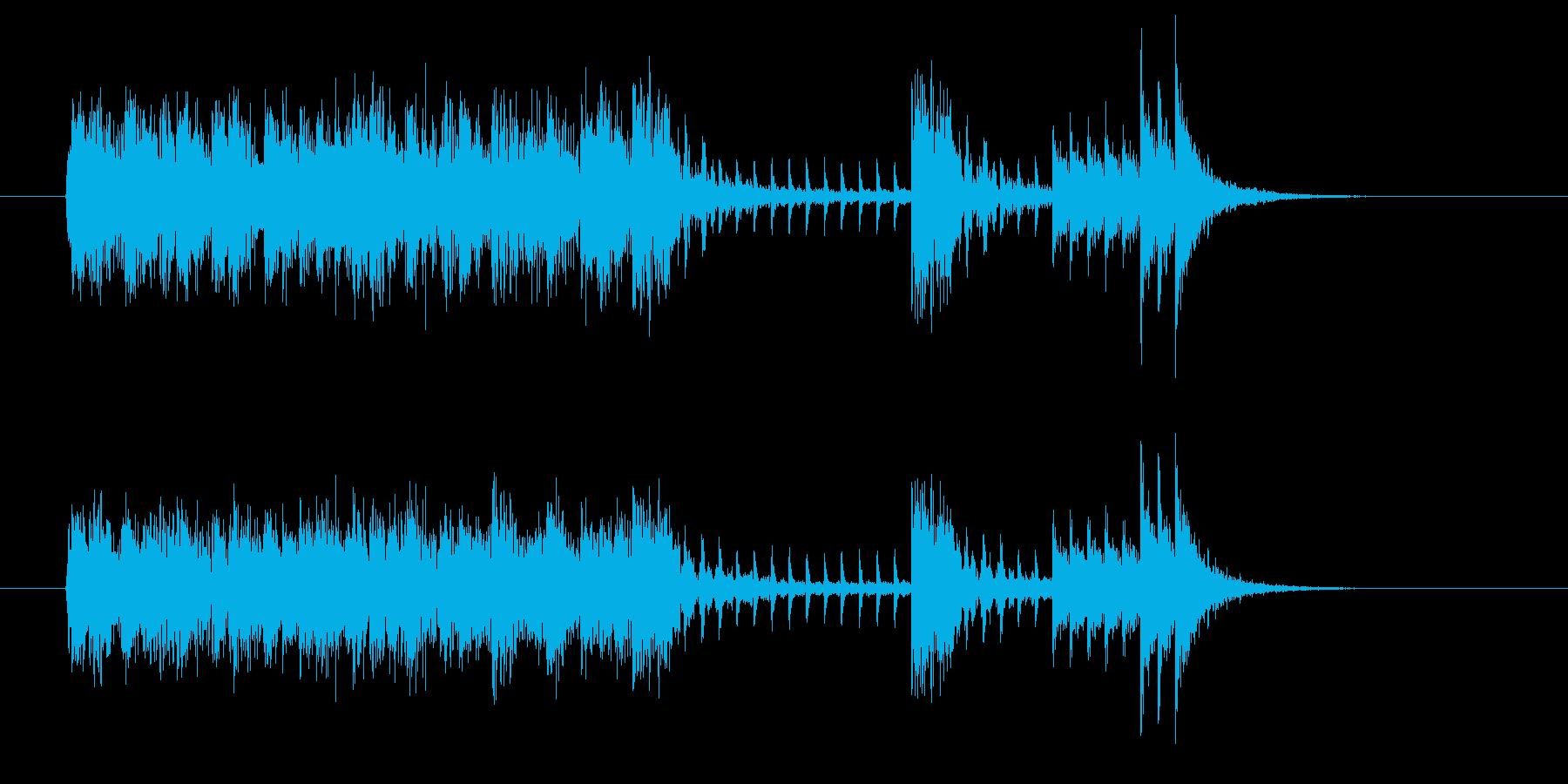 疾走感のあるテクノサウンドの再生済みの波形