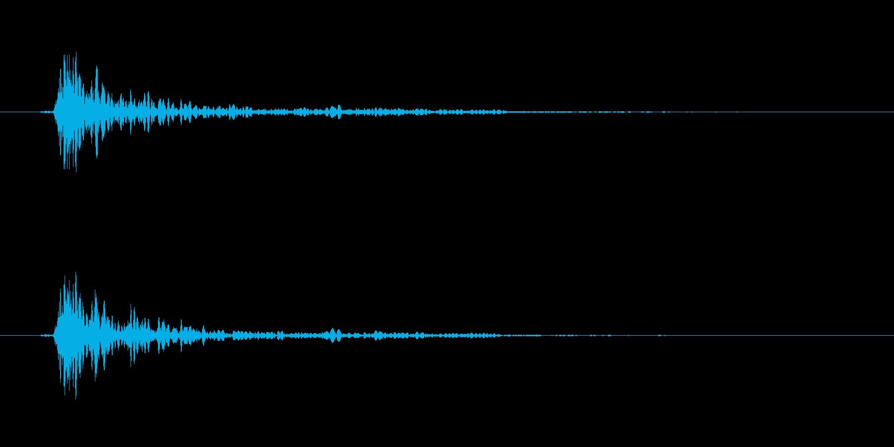 大砲の音バリエーション1の再生済みの波形
