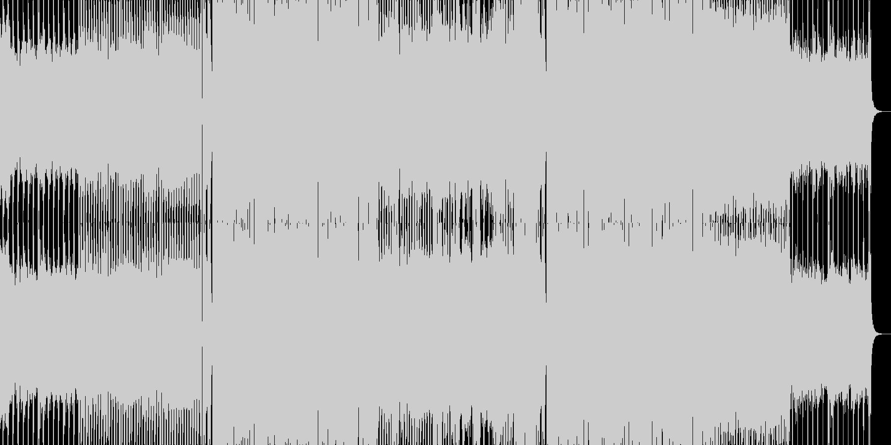 EDMクラブ系ダンスミュージック5の未再生の波形