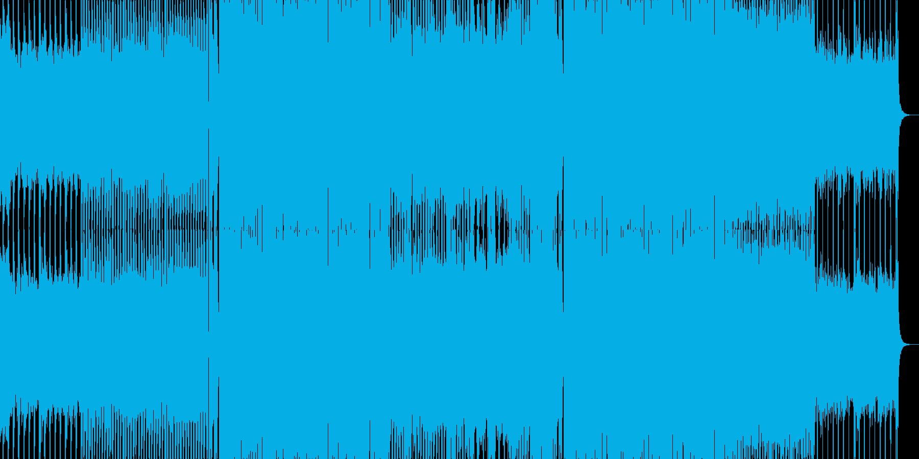 EDMクラブ系ダンスミュージック5の再生済みの波形