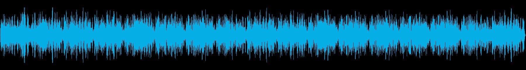 地鳴り・地響き・巨大な乗り物の重い環境音の再生済みの波形
