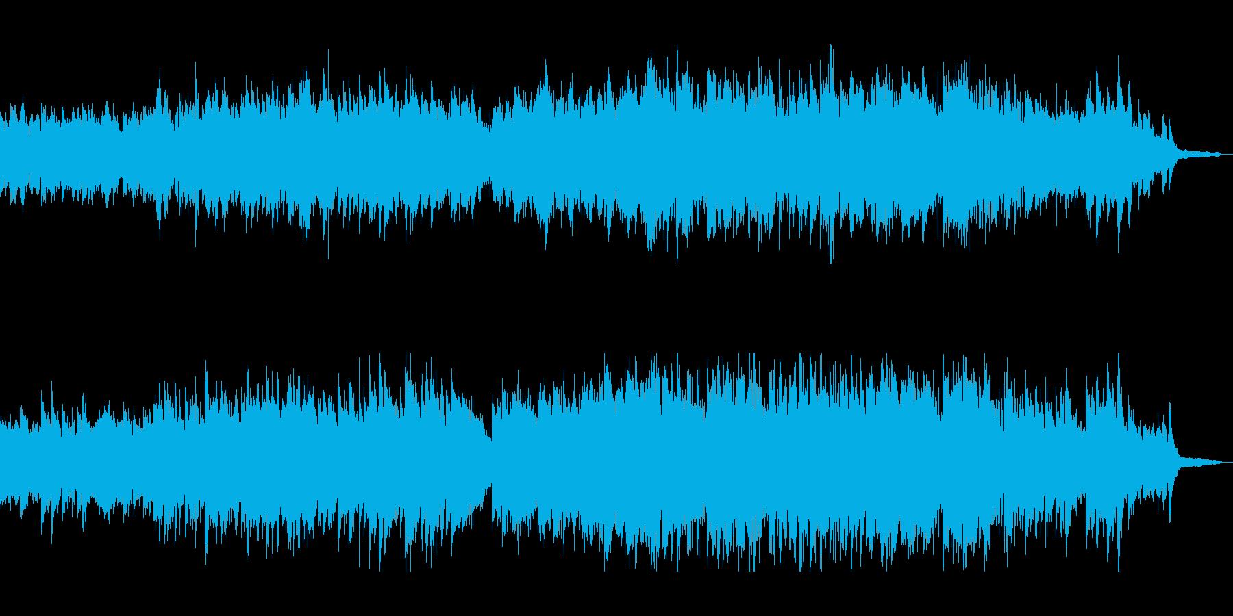 フルートとピアノのクラシックポップの再生済みの波形