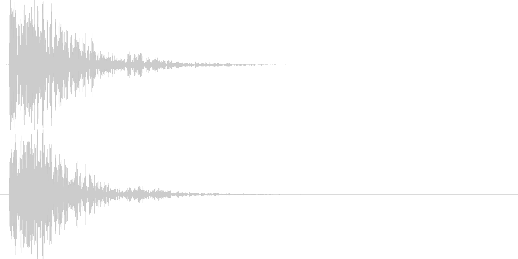 マシン着地 (ガシャーン)の未再生の波形