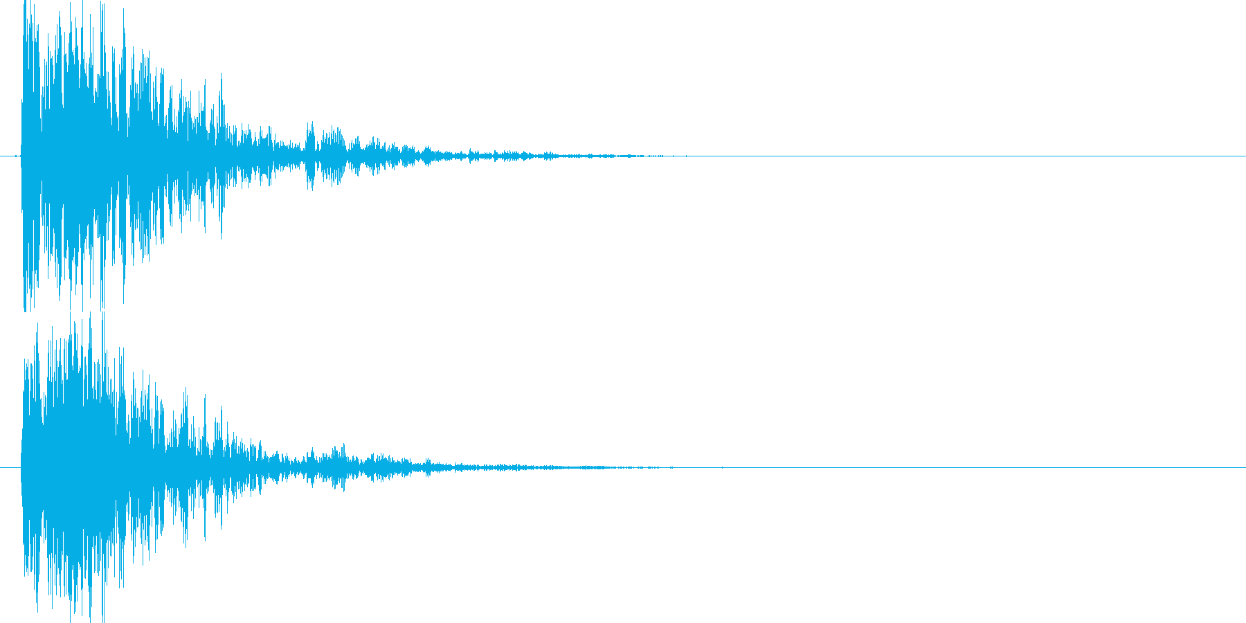 マシン着地 (ガシャーン)の再生済みの波形