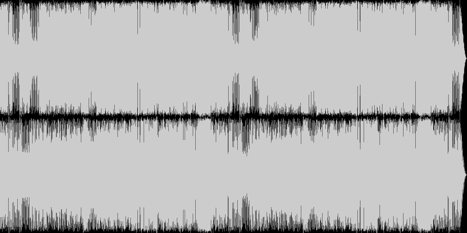 ギター&オルガンの激しい曲 戦いの場面にの未再生の波形