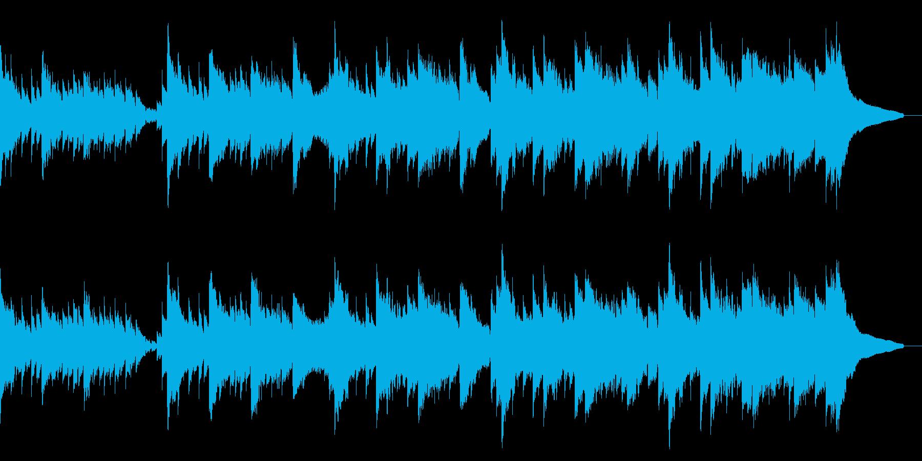 アコギ、ウクレレの静かな曲の再生済みの波形