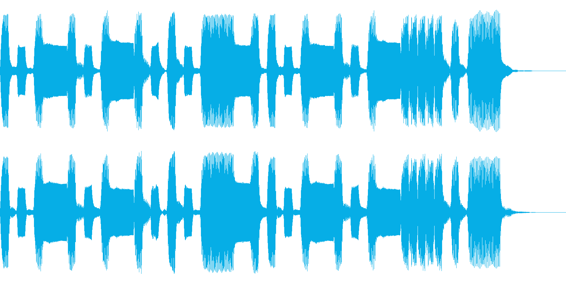 うきうき気分なリコーダージングルの再生済みの波形