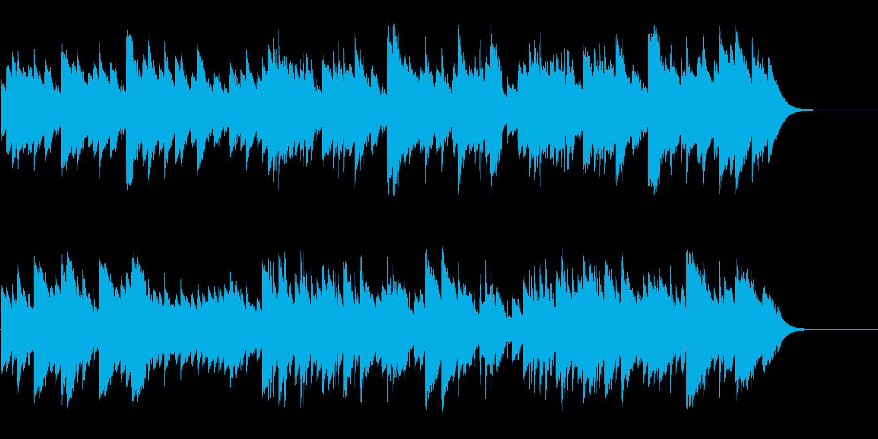 温かい思い出に浸るヒーリング曲の再生済みの波形