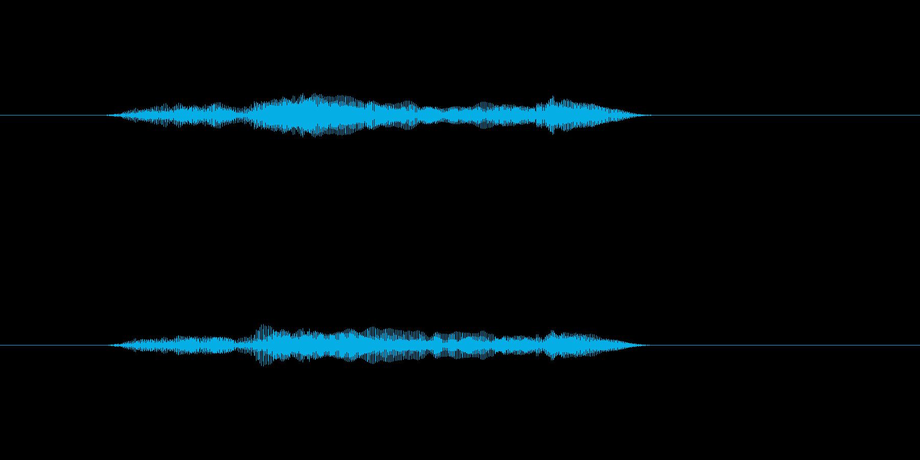 「猫の鳴き声001」ごろにゃーおの再生済みの波形
