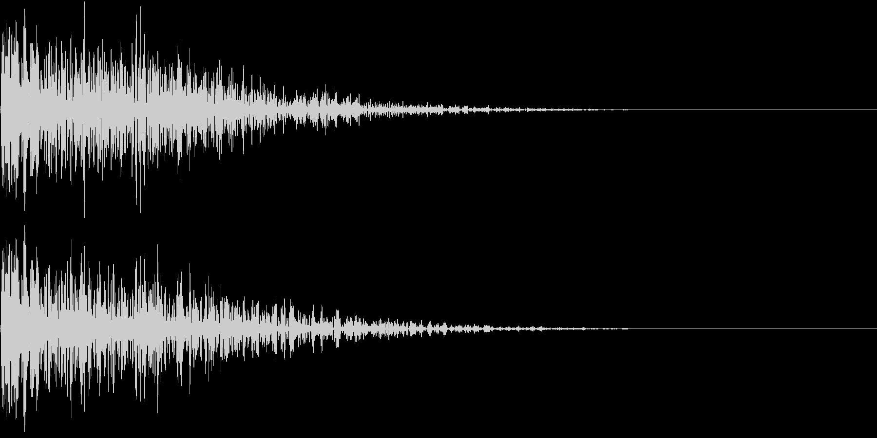 ホラー 衝撃 ドーン 驚き びっくり の未再生の波形