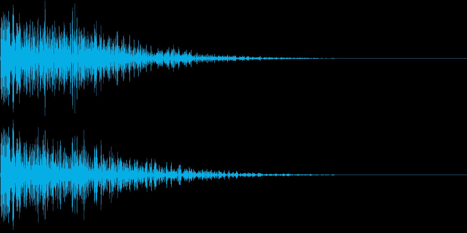 ホラー 衝撃 ドーン 驚き びっくり の再生済みの波形