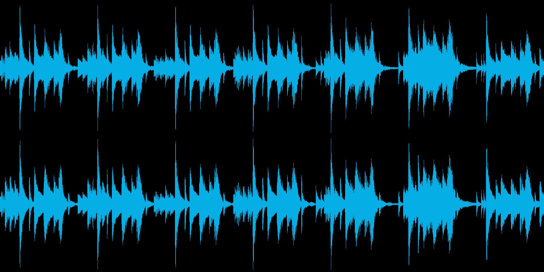 ループ仕様 ジャズなグルメ番組 急ぎ足の再生済みの波形