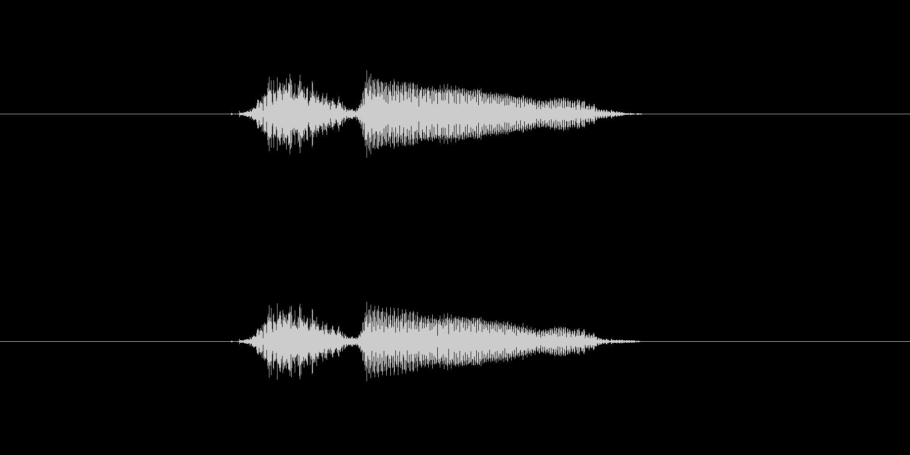 チー の未再生の波形