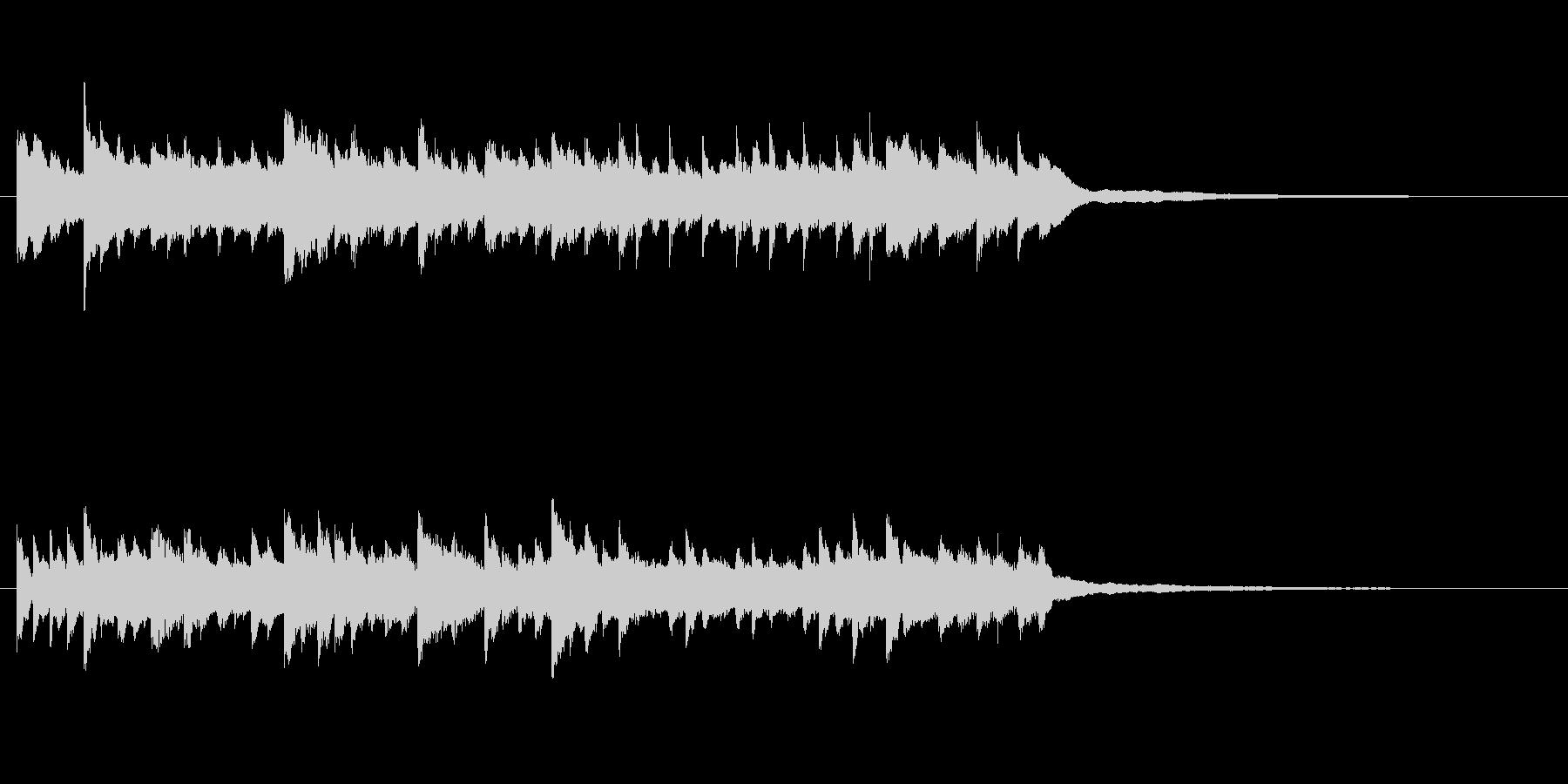 切ないピアノBGM30秒 回想 懐かしいの未再生の波形