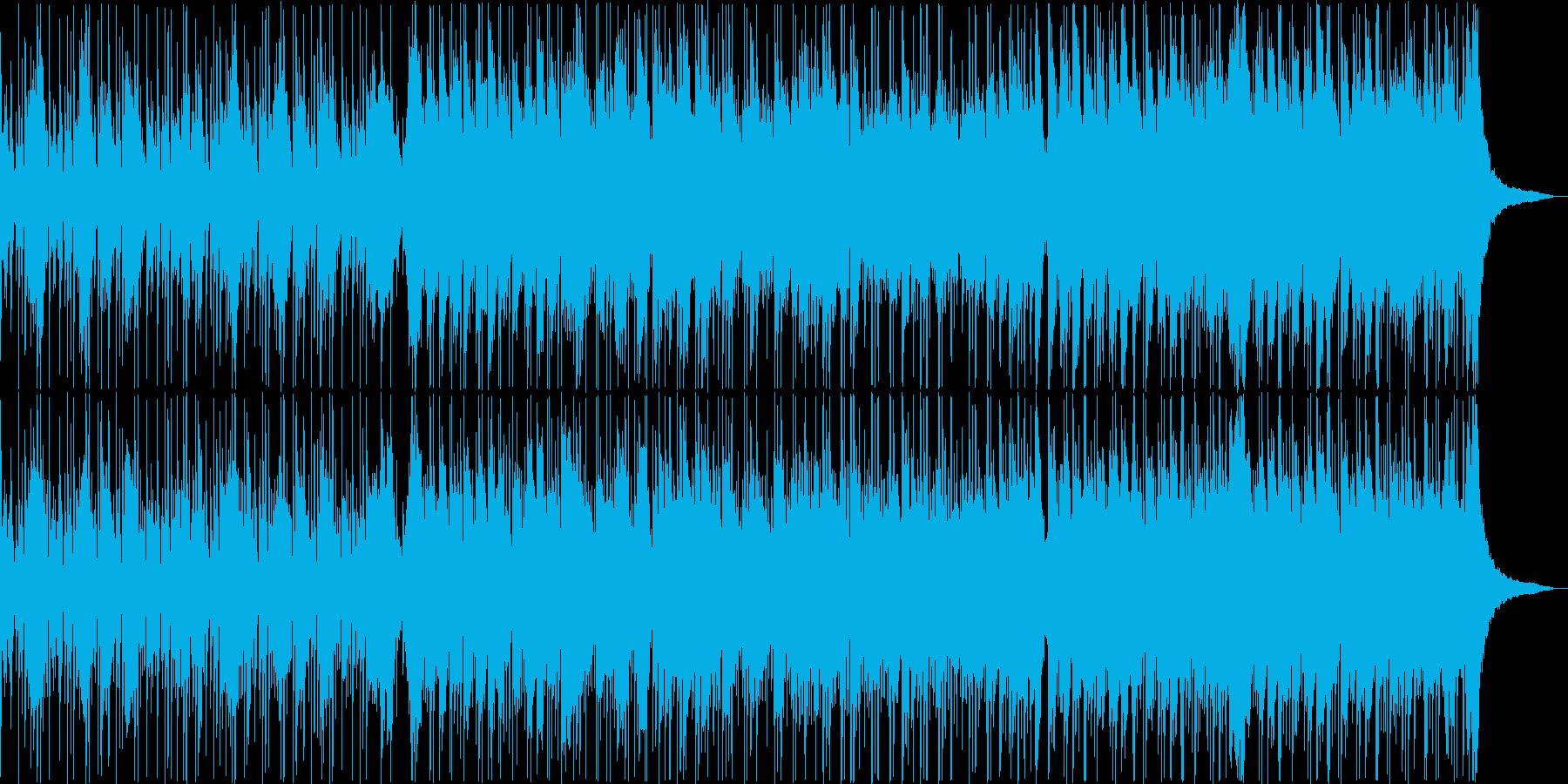 お散歩日和の花鳥風月な映像に琴の音色の再生済みの波形