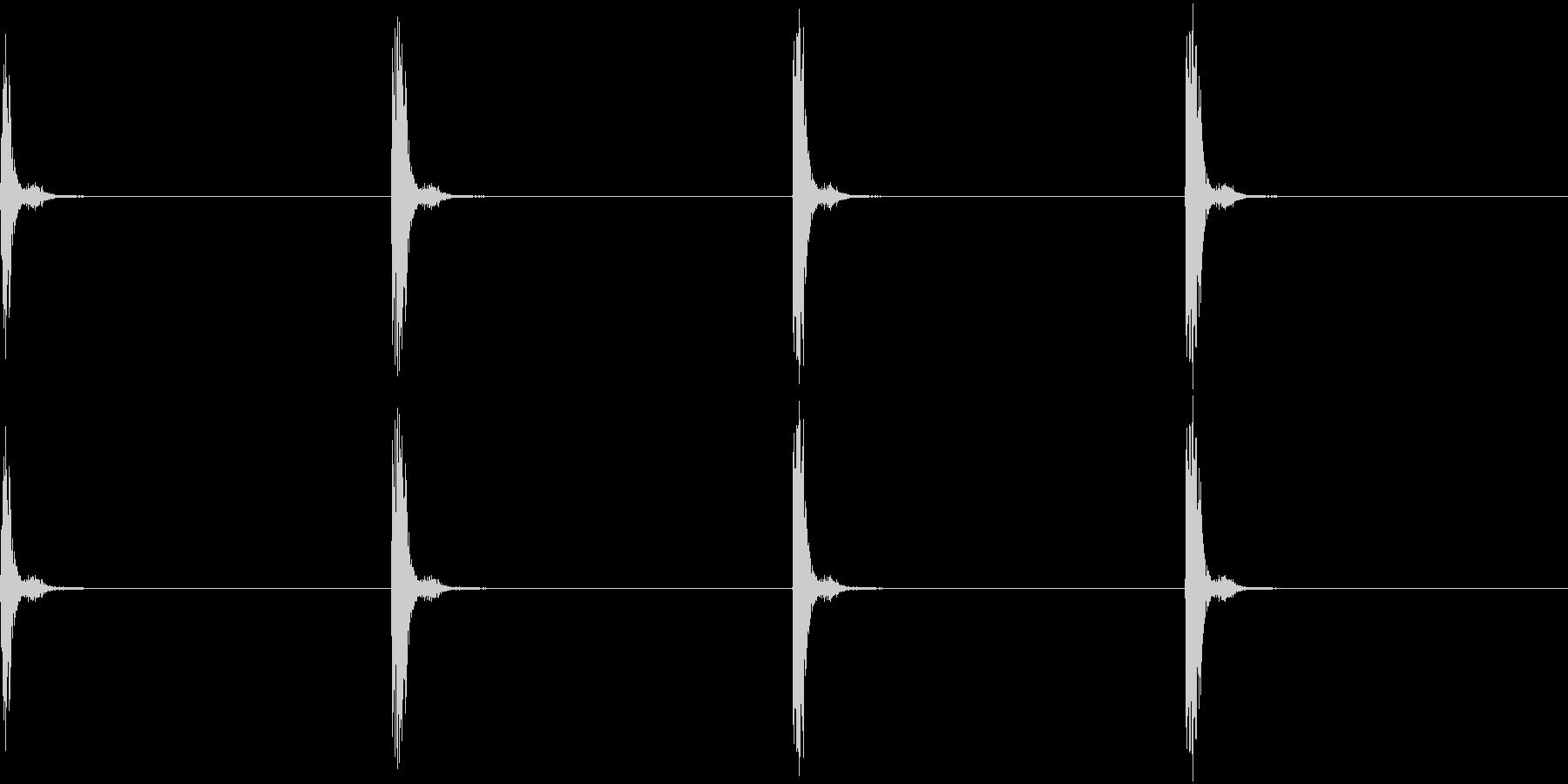 チャッチャッ。時計の秒針C(低・短)の未再生の波形