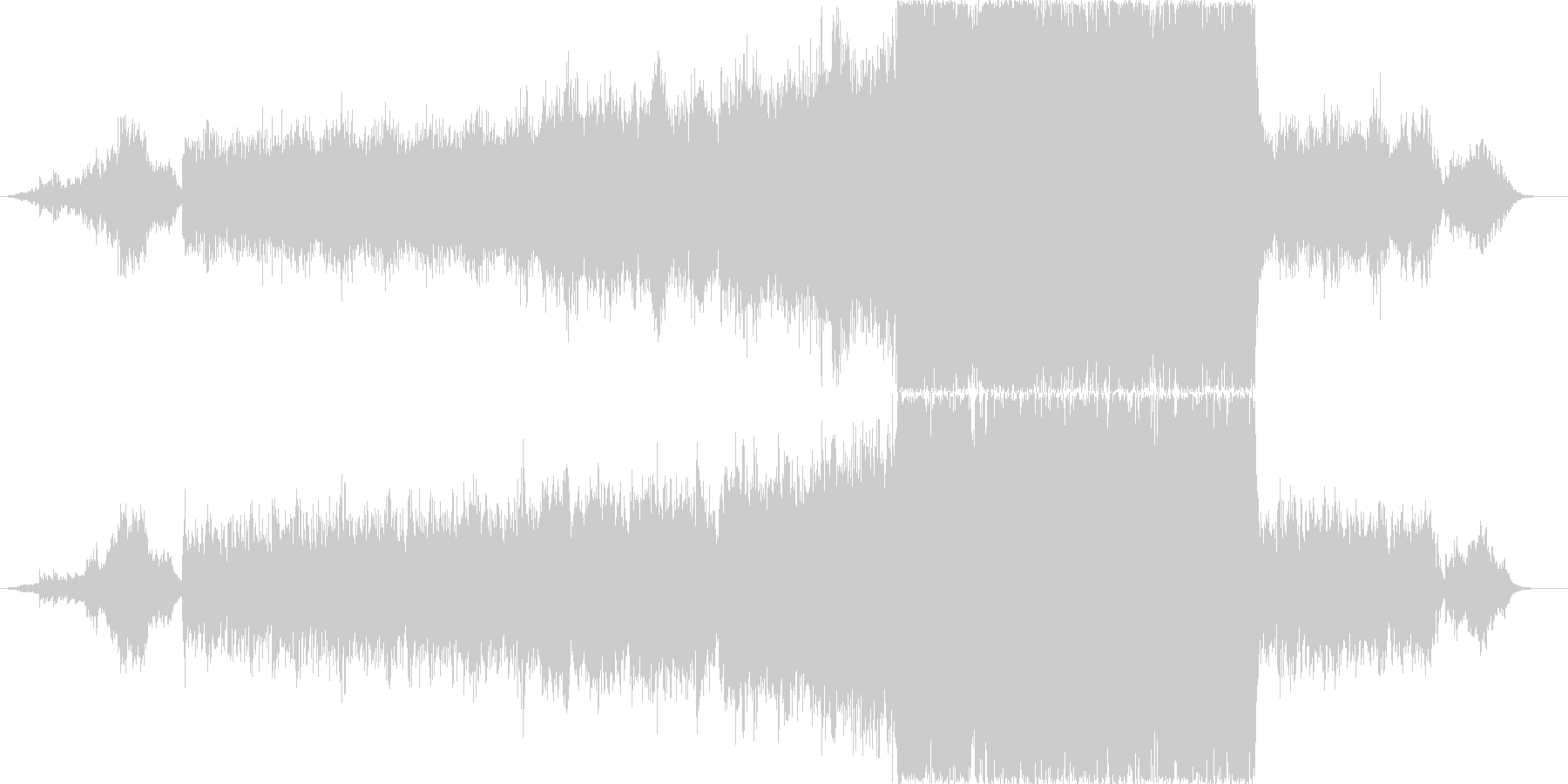 切なく鮮やかな映像、CMにの未再生の波形