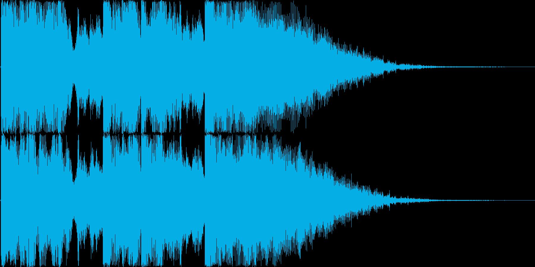 ノリのいい王道なラジオ向けジングルの再生済みの波形